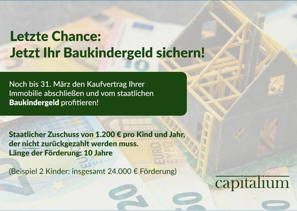 Reminder: Noch im März den Kaufvertrag Ihrer Immobilie abschließen und vom staatlichen Baukindergeld profitieren!