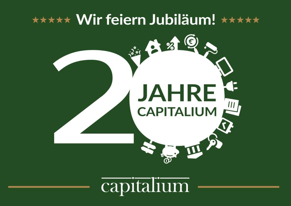 Capitalium 20 Jahre Jubiläum - Baufinanzierung Hamburg Hausbau Anschlussfinanzierung Forward Darlehen Finanzberater Matthias Drews
