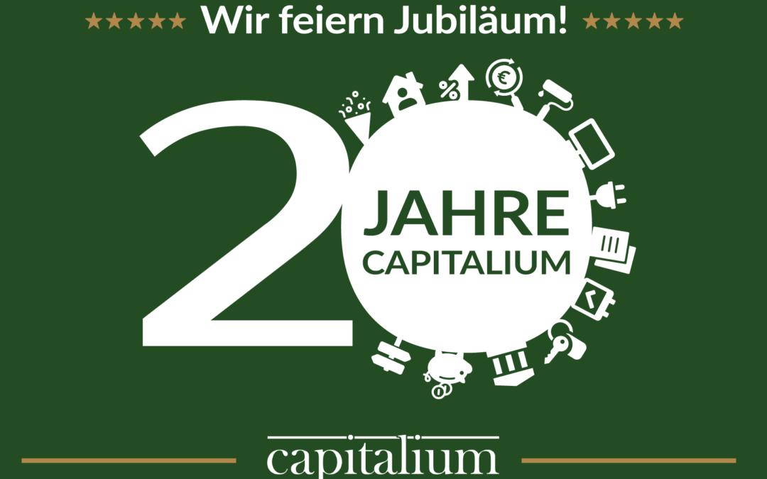 20-jähriges Firmenjubiläum von Capitalium