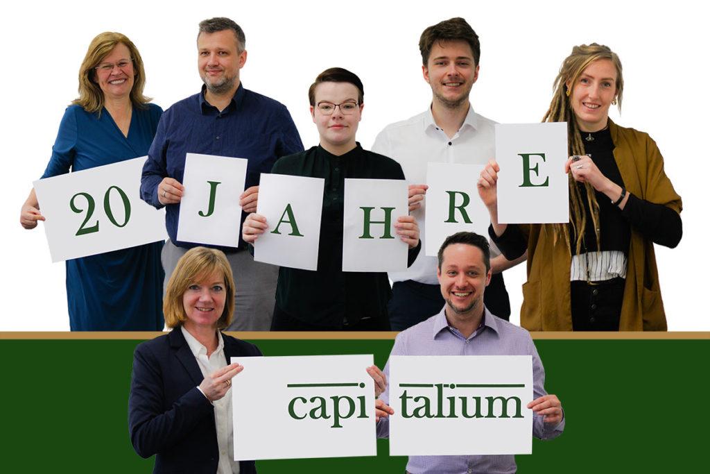 Capitalium 20 Jahre Jubiläum - Baufinanzierung Hamburg Hausbau Anschlussfinanzierung Forward Darlehen Finanzberater Team Unterstuetzung