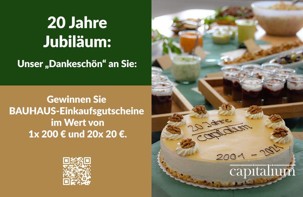 20 Jahre Capitalium: Jetzt mitmachen und gewinnen!