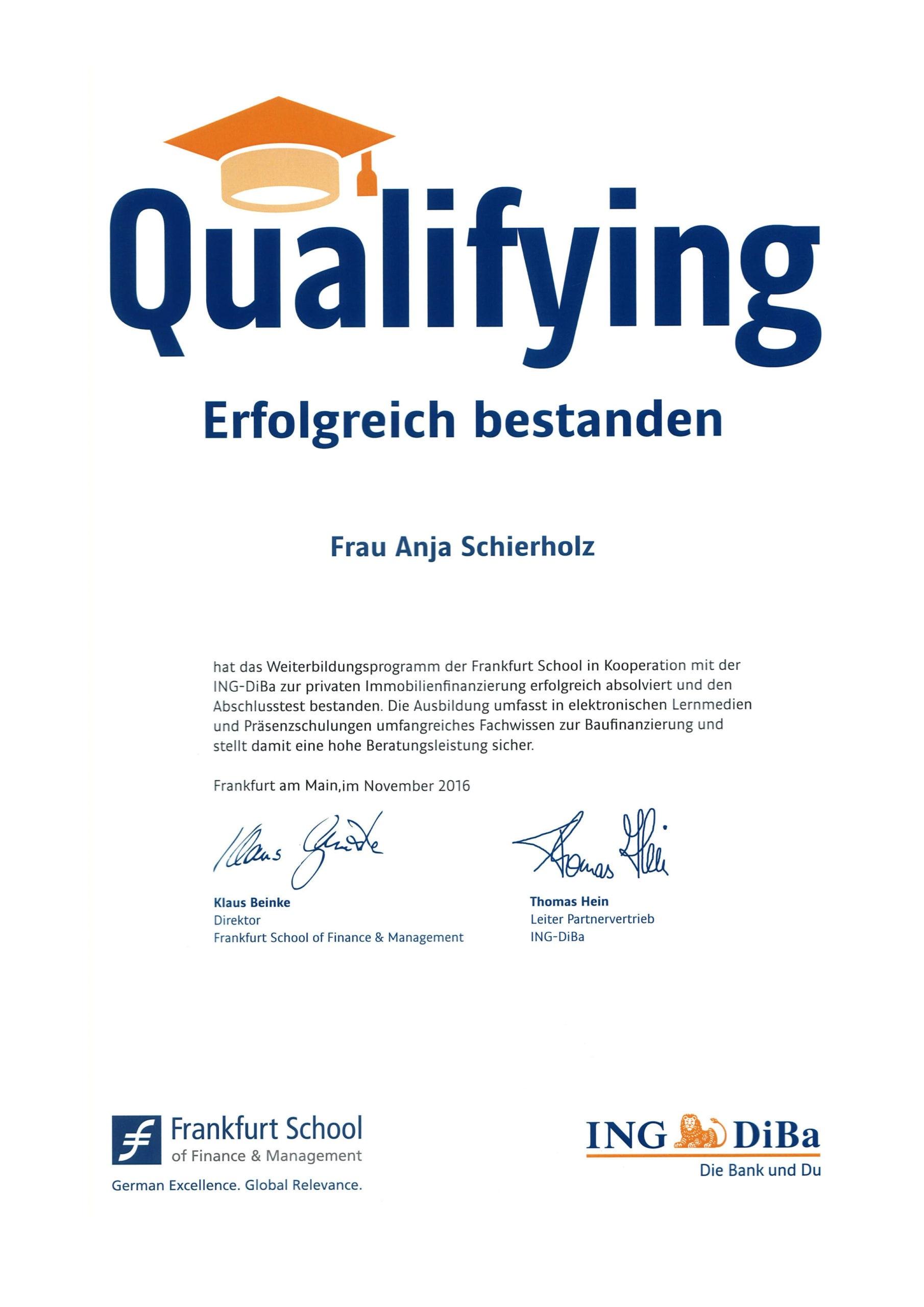 Urkunde-Anja-Willumeit-Frankfurt-School_Capitalium-Finanberater-Baufinanzierung-Hamburg-Kredit-Immobilienkauf-Matthias-Drews-Baufi